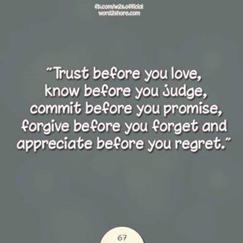 Appreciate before you regret..