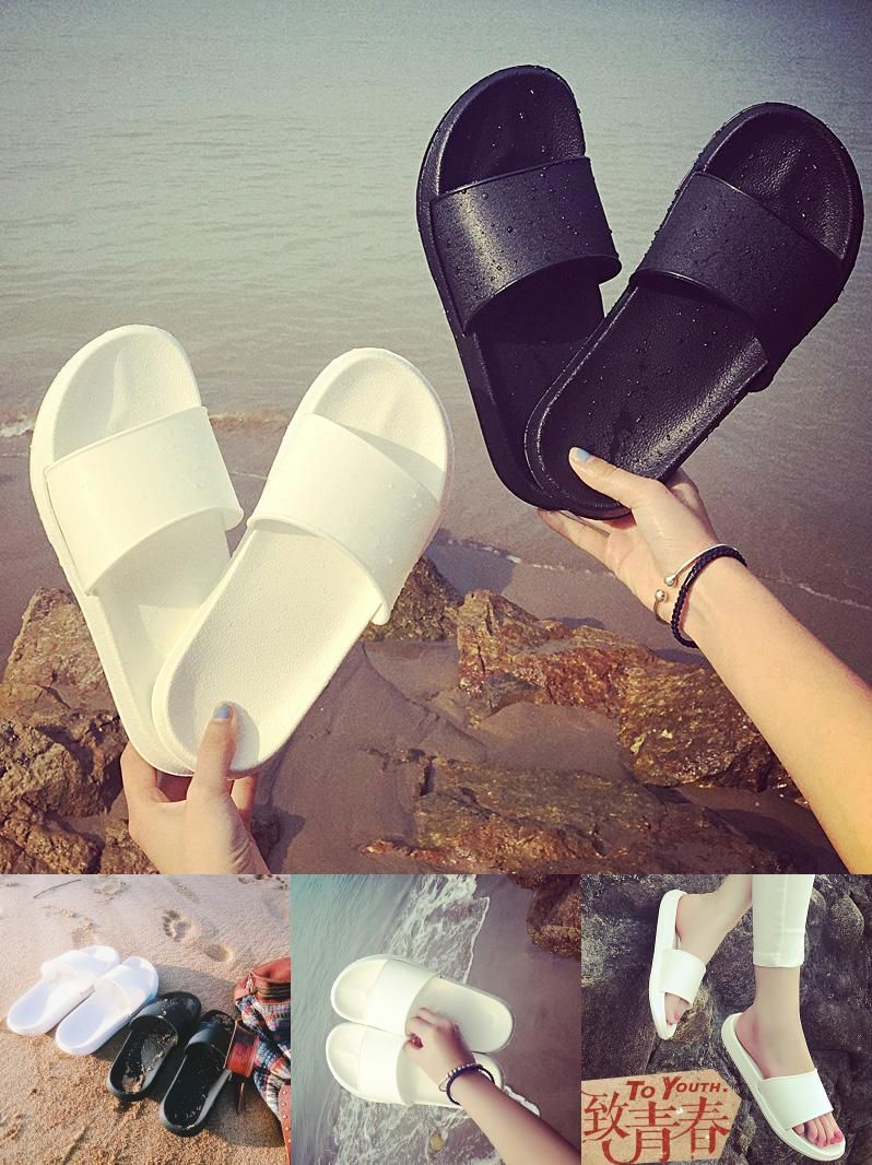 4a0321e38295cc  Visit to Buy  Outdoor bathroom shower slippers couple anti-skid slippers  summer men