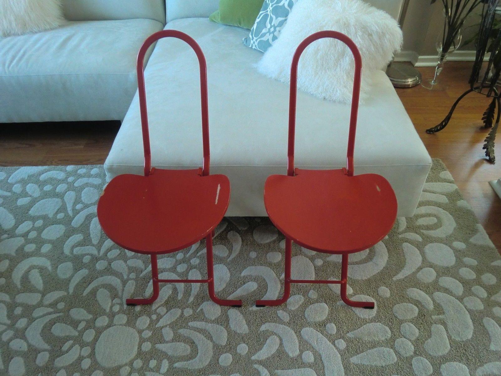 Thema Sedie E Tavoli.Vintage Gastone Rinaldi Dafne Folding Chairs 2 Red Thema Of Italy