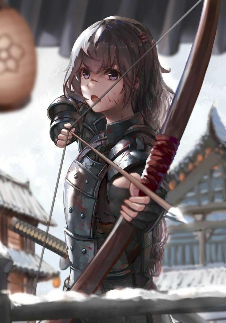 Photo of Weapons girb bow Anime art kawaii cute girl