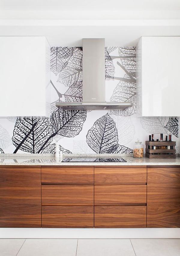Wallpaper Kitchen Backsplash Google Search Kitchen Wallpaper Home Decor Kitchen Minimalist Kitchen Backsplash