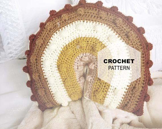 Summer of 77 Collection-Rainbow Pillow, Crochet Rainbow, Crochet Pillow, Rainbow Pillow, Rainbow baby, Crochet Pattern, Easy Crochet Pattern