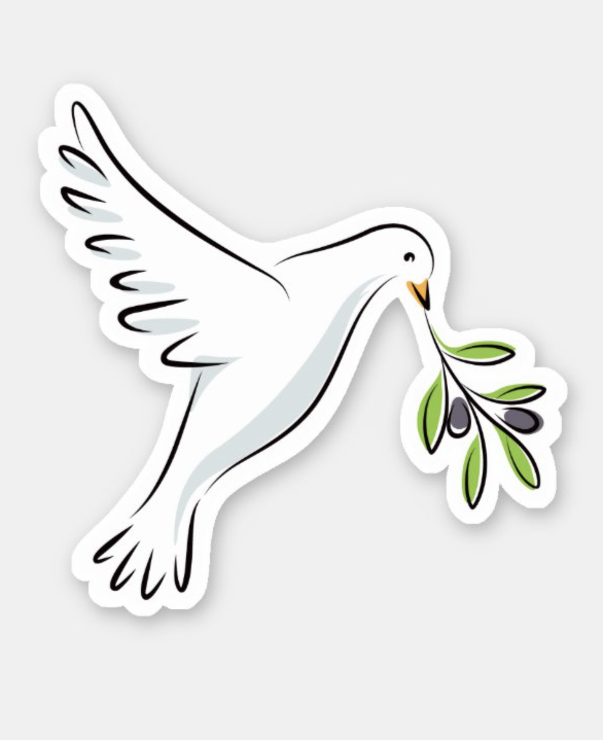 White Peace Dove With Olive Branch Sticker Zazzle Com In 2021 Dove With Olive Branch Peace Dove Dove Images