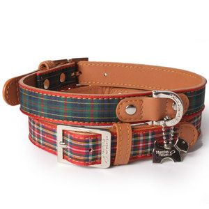 Metal Buckle And Pattern Designer Dog Collars Leather Dog