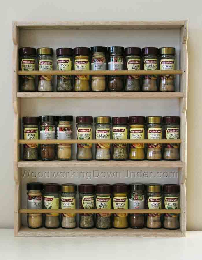 How To Make A Spice Rack Using Project Timber. Instant Download Free Plans.  A