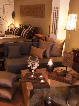 Bedroom Ideas Ethnic afrocentric style decor - design centered on african influenced
