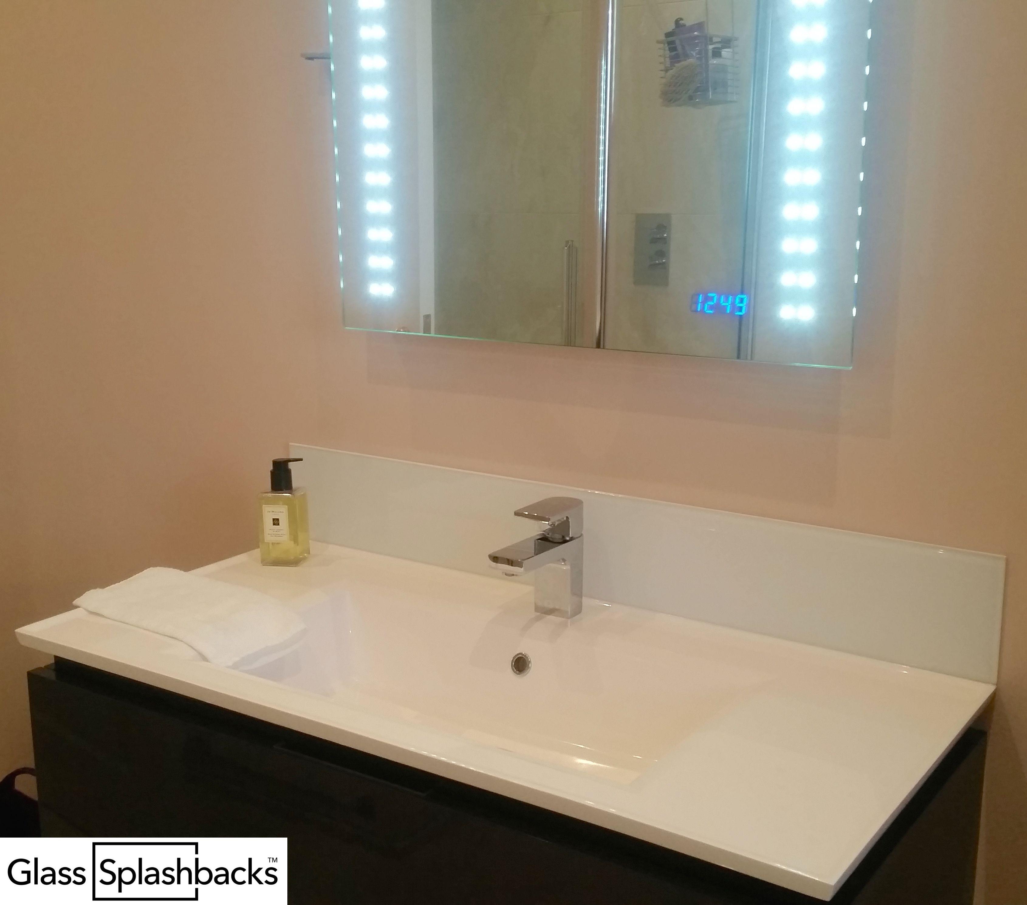 Bathroom sink splashback ideas - White Glass Sink Splashback By Glasssplashbacks Com Shop Our Range Of Standard Sized Sink Splashbacks