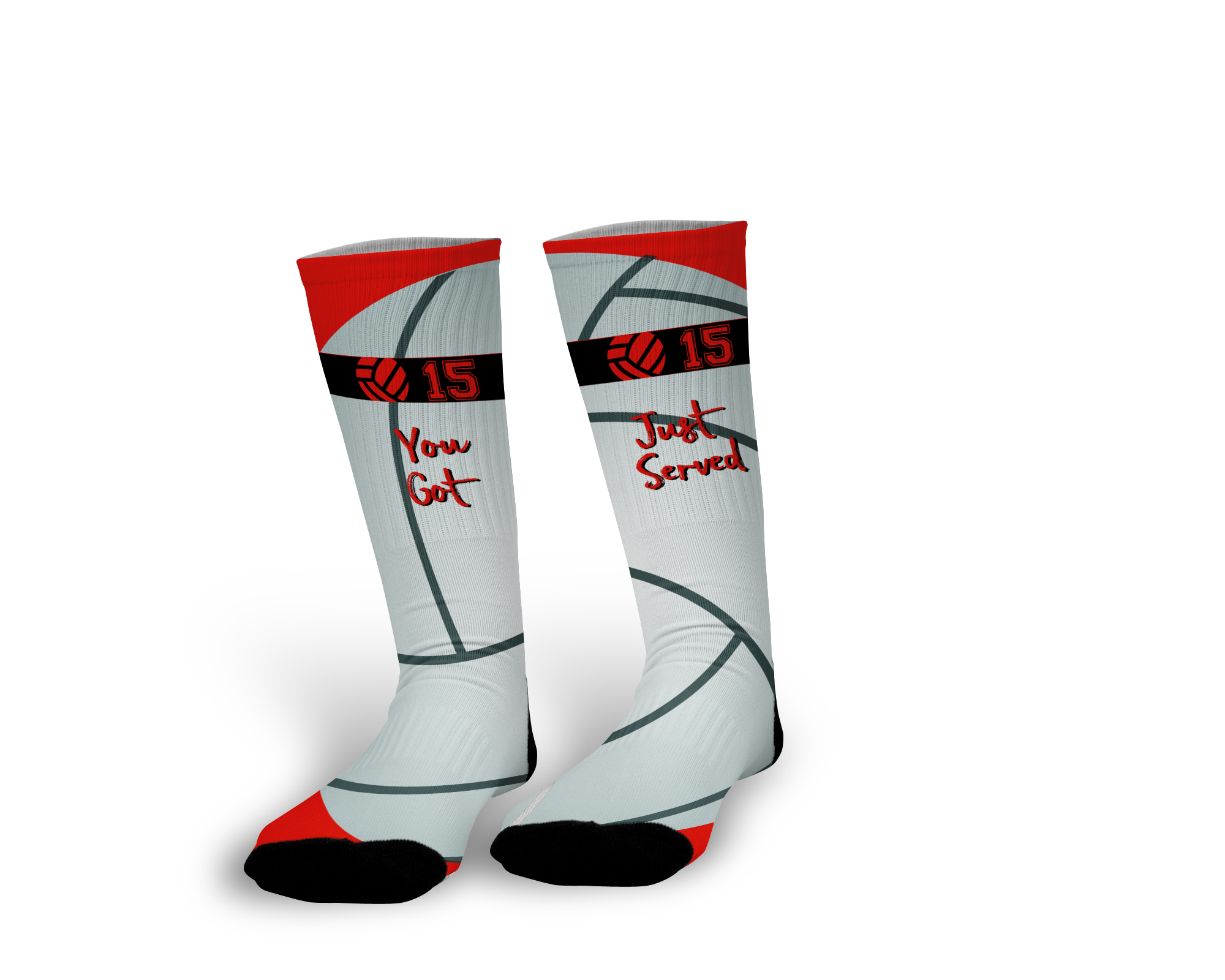 Dig This Create Custom Volleyball Socks As Unique As You Wear To School On Game Days Choice Of Design Volleyball Socks Volleyball Socks