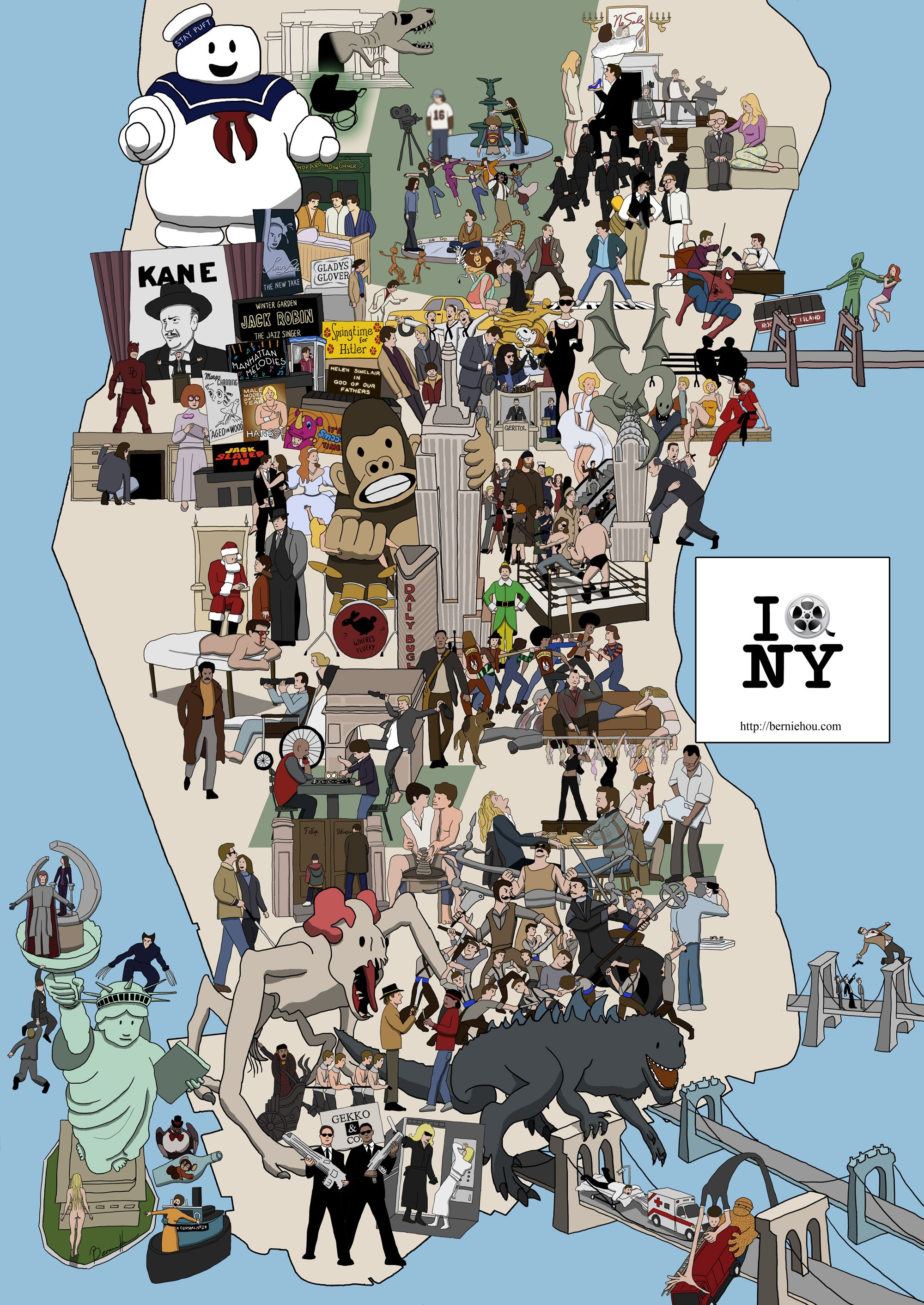 NY Movie Map The Great Location Cinema Pinterest Пришельцы - New york map location