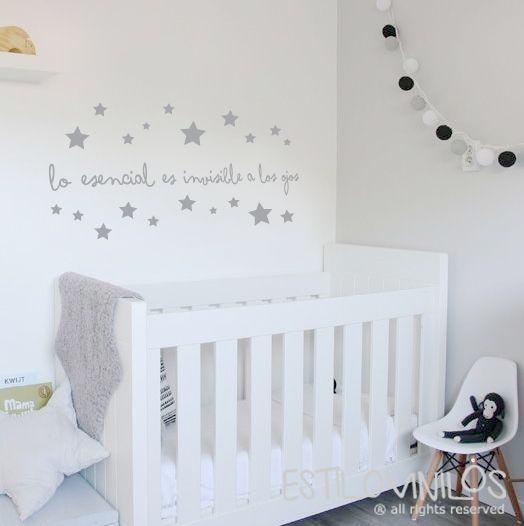 Frase el principito vinilos pinterest el principito for Vinilos pared habitacion bebe