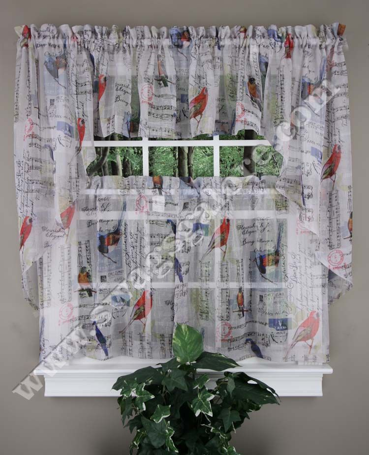 tweet is a themed styles curtain song birds letters
