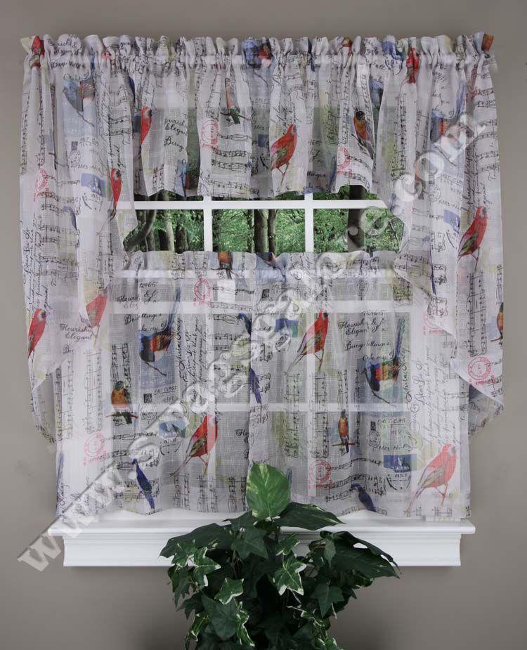 Bird Kitchen Curtains Custom Design