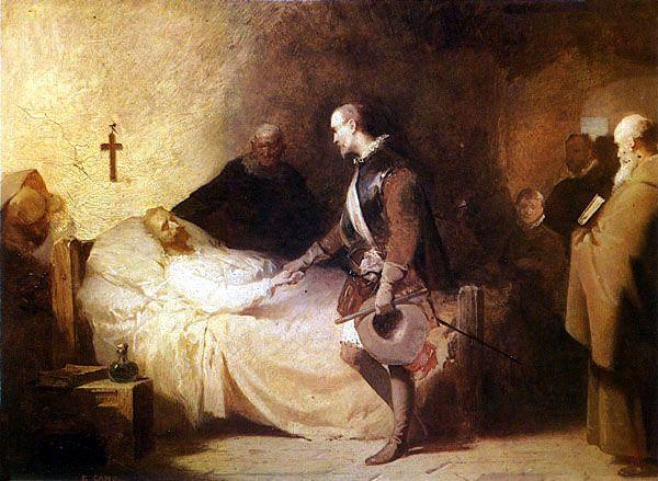 Resultado de imagen de imagenes de don quijote lecho de muerte