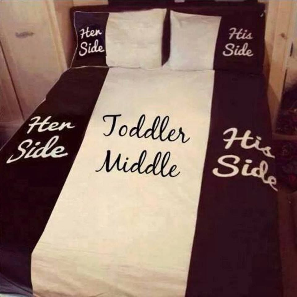 Funny bed sheets - His Side Her Side Toddler Middle Bed Sheetsfunny
