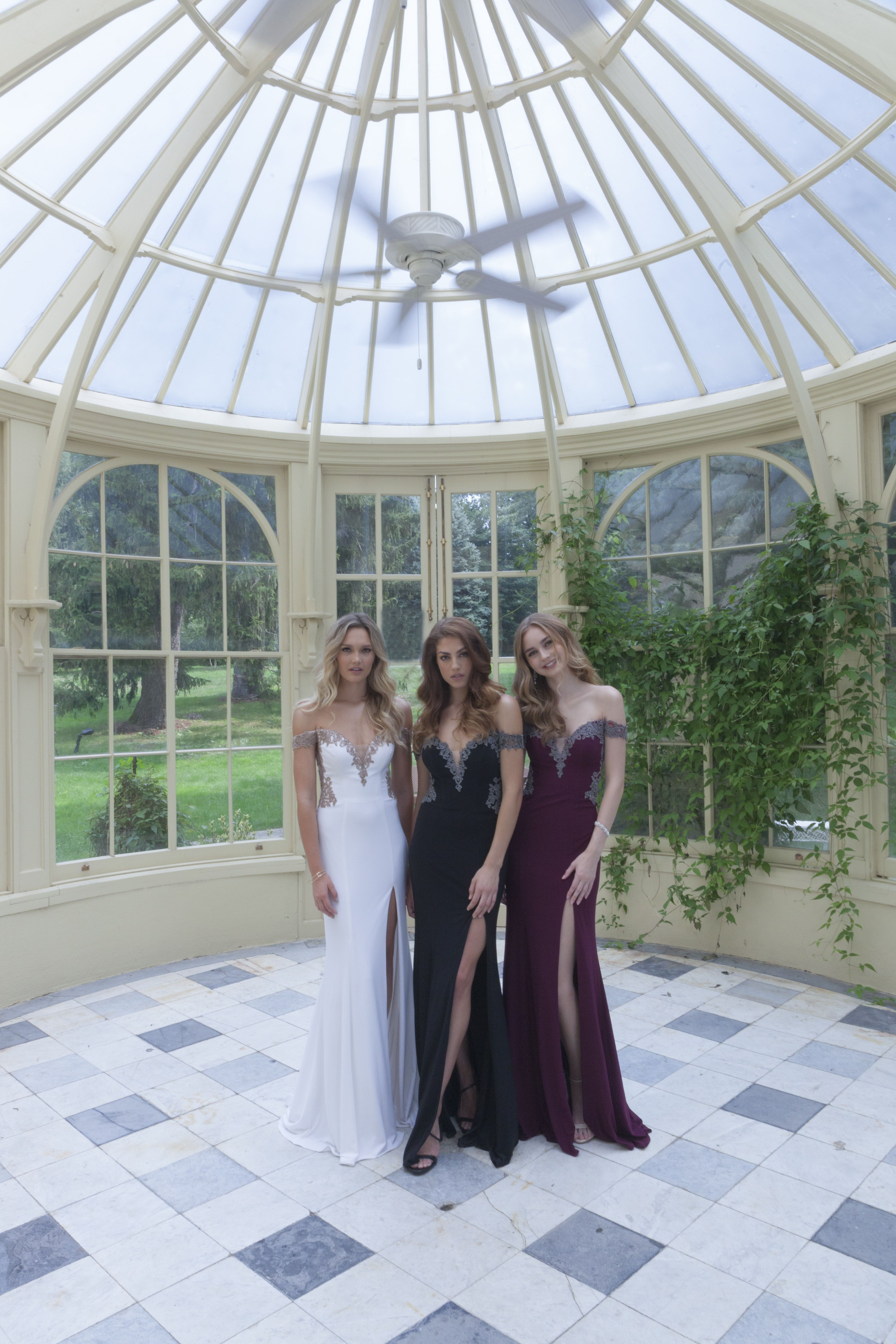 Be fierce with your squad in these offtheshoulder prom dresses