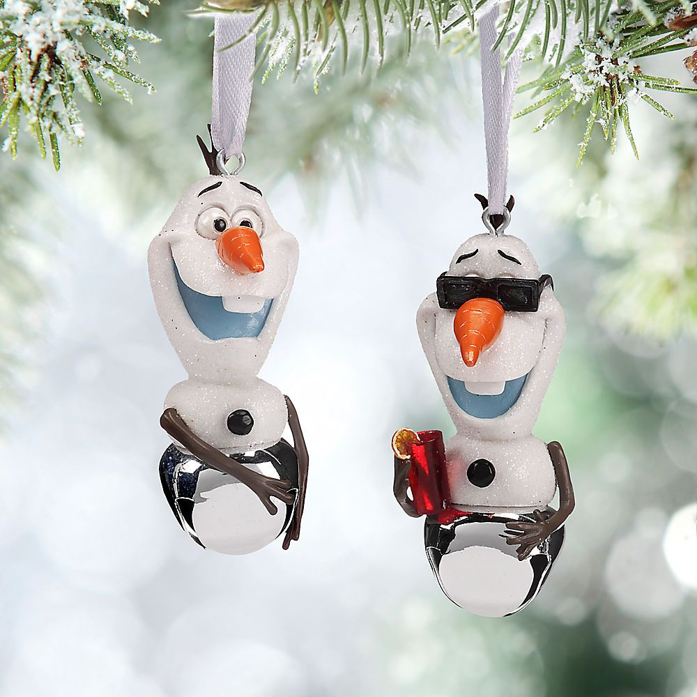 Olaf Bell Ornament Set from Disney Store for $16.95 | Christmas ...