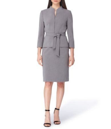 Shop For Tahari Asl Bi Stretch Belted Skirt Suit At Dillards Com