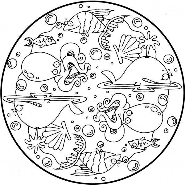 Mandalasanimales Mandalas Para Colorear Mandalas Para Ninos Mandalas Animales