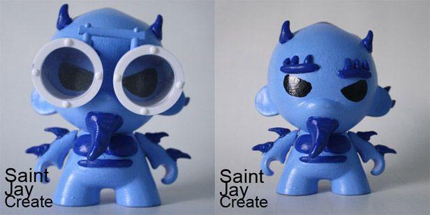 """Monstro de la Nieve"" (Snow Monster) Custom Munny"