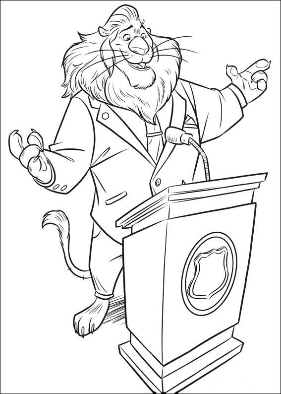 Zootopia Coloring Pages 14 --u003e For the top-rated adult coloring - new zootopia coloring pages free