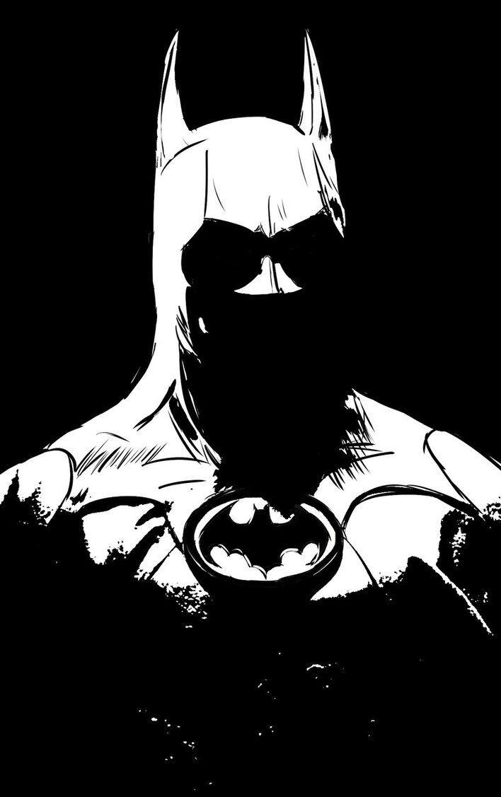 Batman Black And White By Darranged On Deviantart Batman