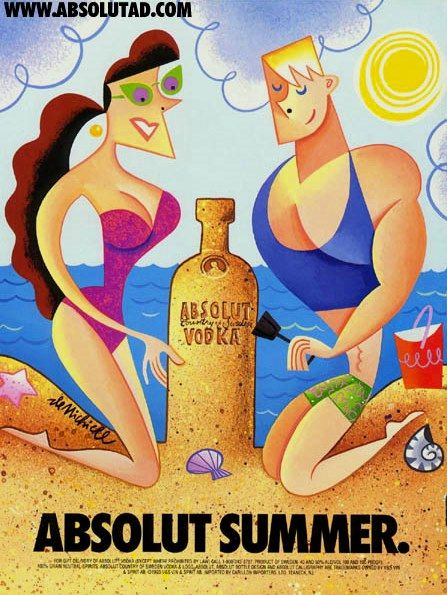 Absolut Summer Absolut Vodka Vodka Bottle Art