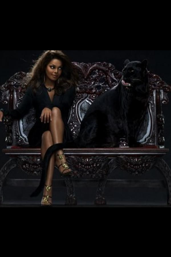 Janet Jackson And Panther I Love The Jackson Family Pinterest