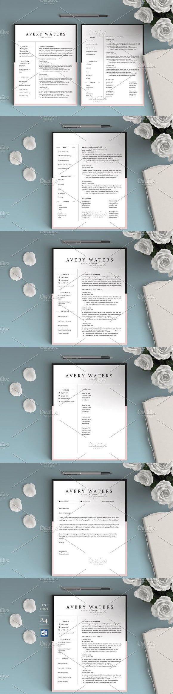 graduate resume cv for word avery stationery templates