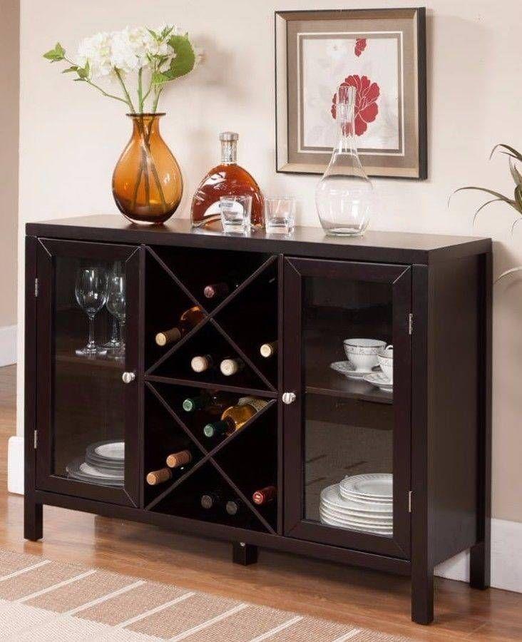 cool Wine Rack Bottle Storage Holder Wooden Bar Show Cabinets Liquor ...