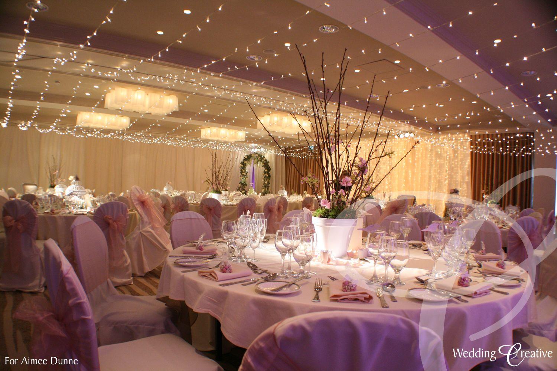 Fairy Light Canopy For Hotel Wedding Reception Weddingcreative