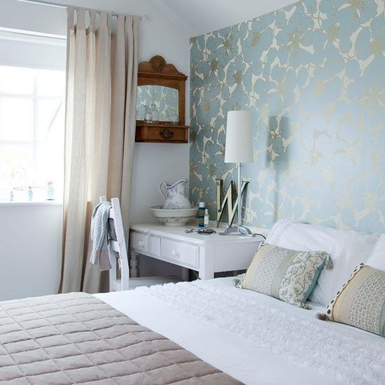Feature wall bedroom photo gallery style at home for Grey feature wallpaper bedroom