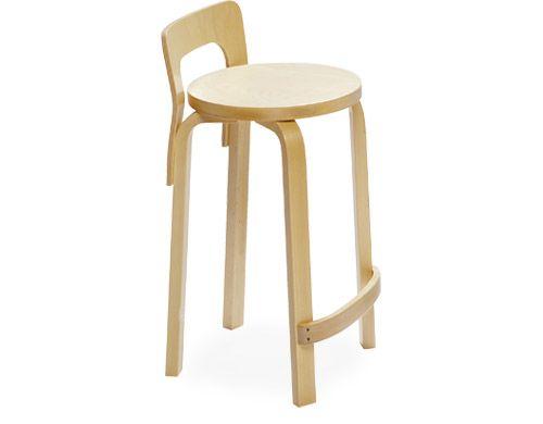 Alvar Aalto Stool K65 Chair Counter