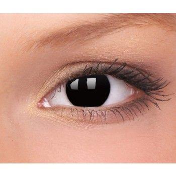 crazy zwarte blackout kleurlenzen op sterkte | all hallows| | ogen