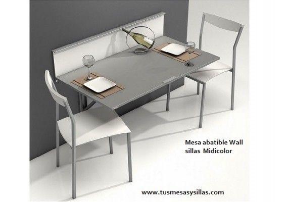 Precio mesa estrecha plegable, mostrador abatible de pared, modelo ...