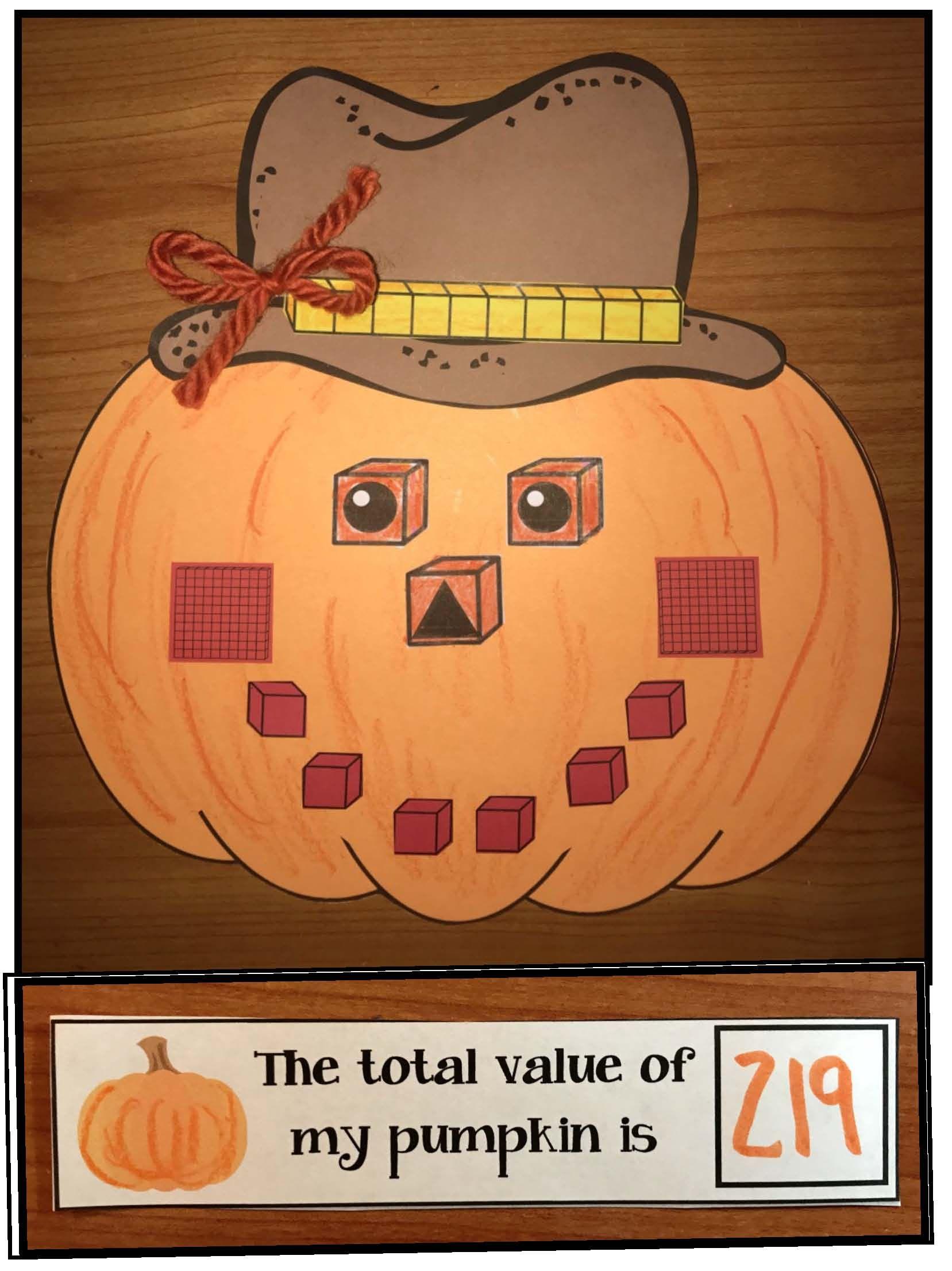 Place Value Pumpkin Craft
