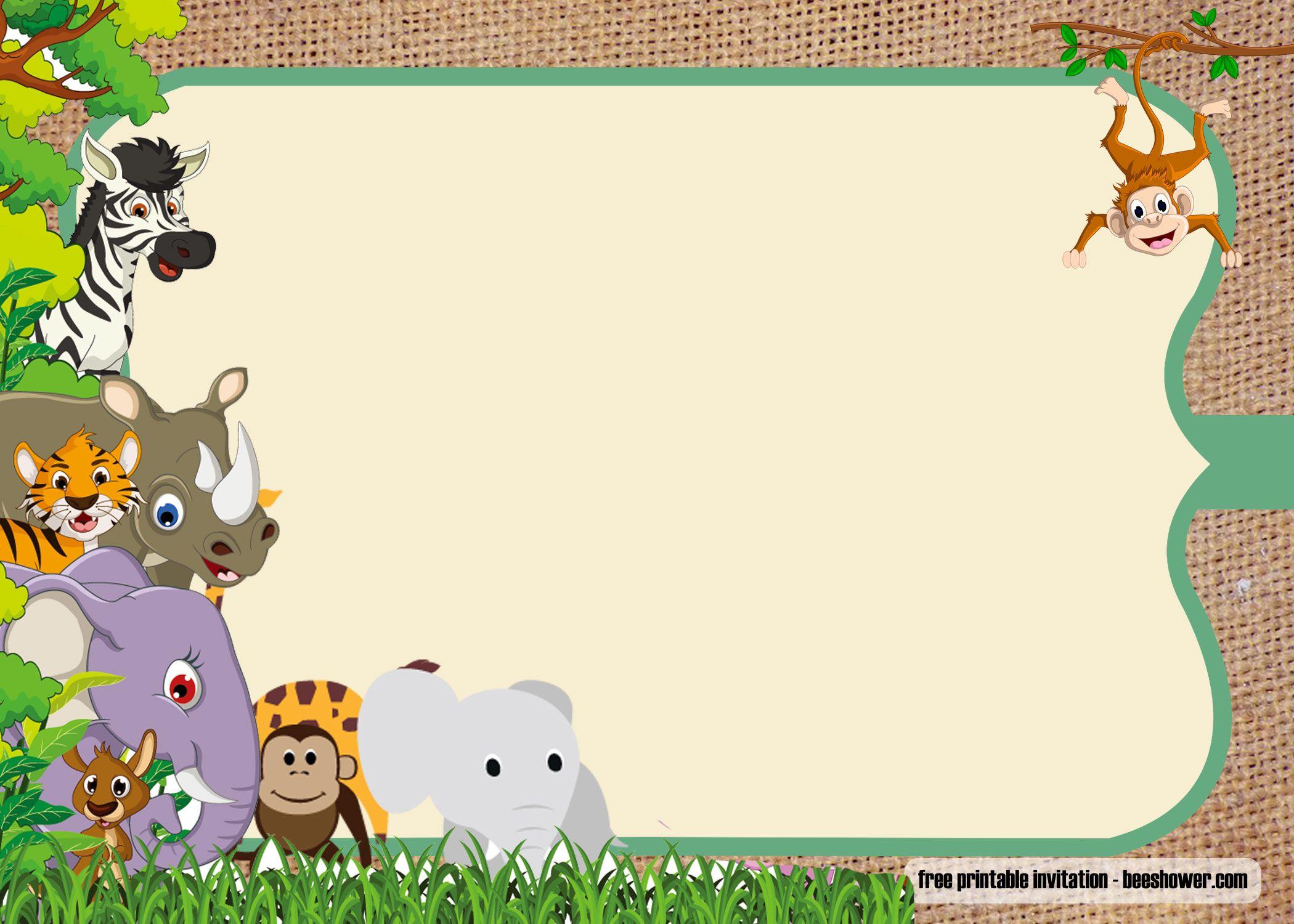 Editable Jungle Birthday Invitation Template Free 7