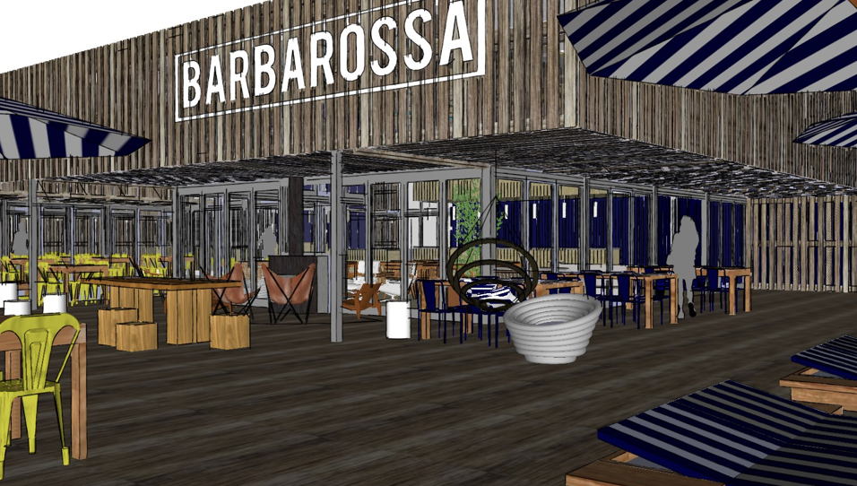 Barbarossa Beachclub Design Bar Restaurant Scheveningen Exterior Terrace Hubert Crijns Architects Sketchup Architecten Restaurant Design