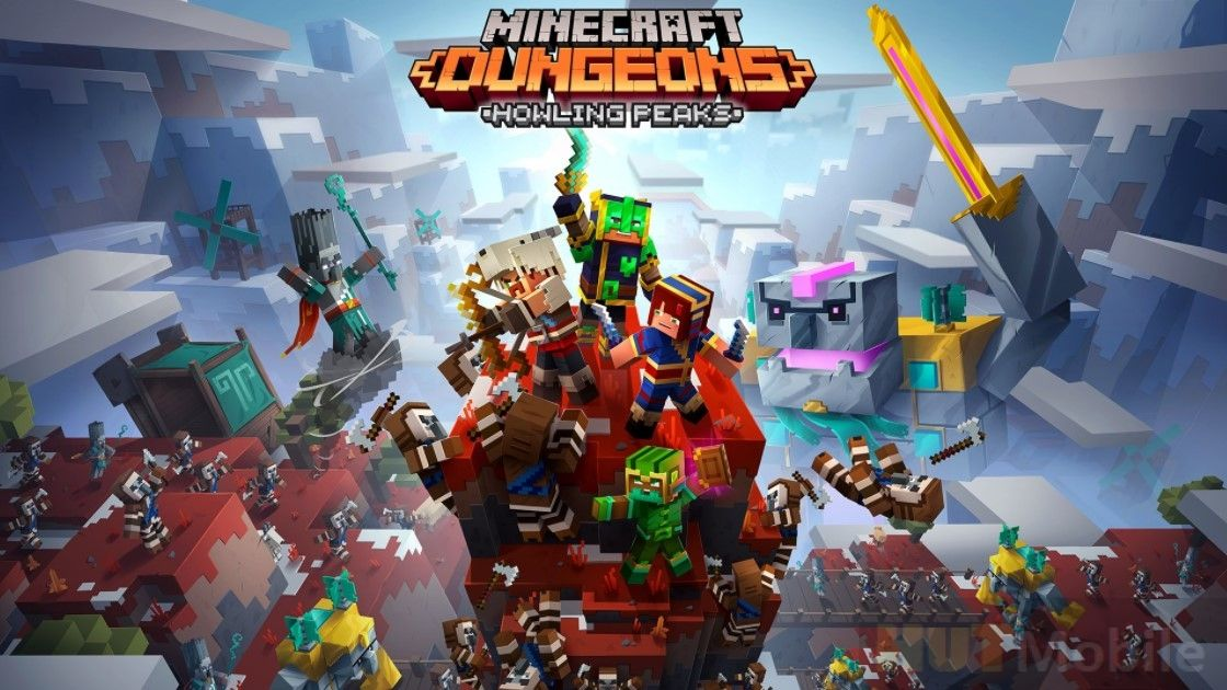 Minecraft Dungeons Howling Peaks Android Apk Game Full Version Free Download Hut Mobile Minecraft Nintendo Apocalypse