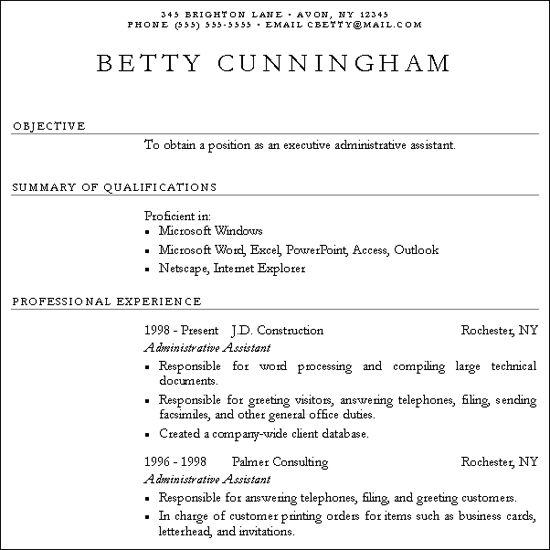 sample resume with no work experience college student