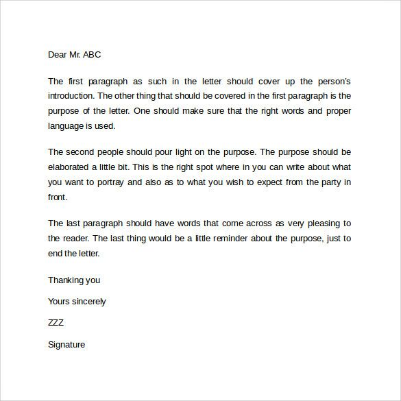 business letter samples    calendarprintablehub business - introduction letter format