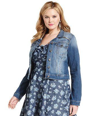 Wash Pixie Simpson Denim Jacket Jessica Size Trendy Plus Jefford Y6fqwSC