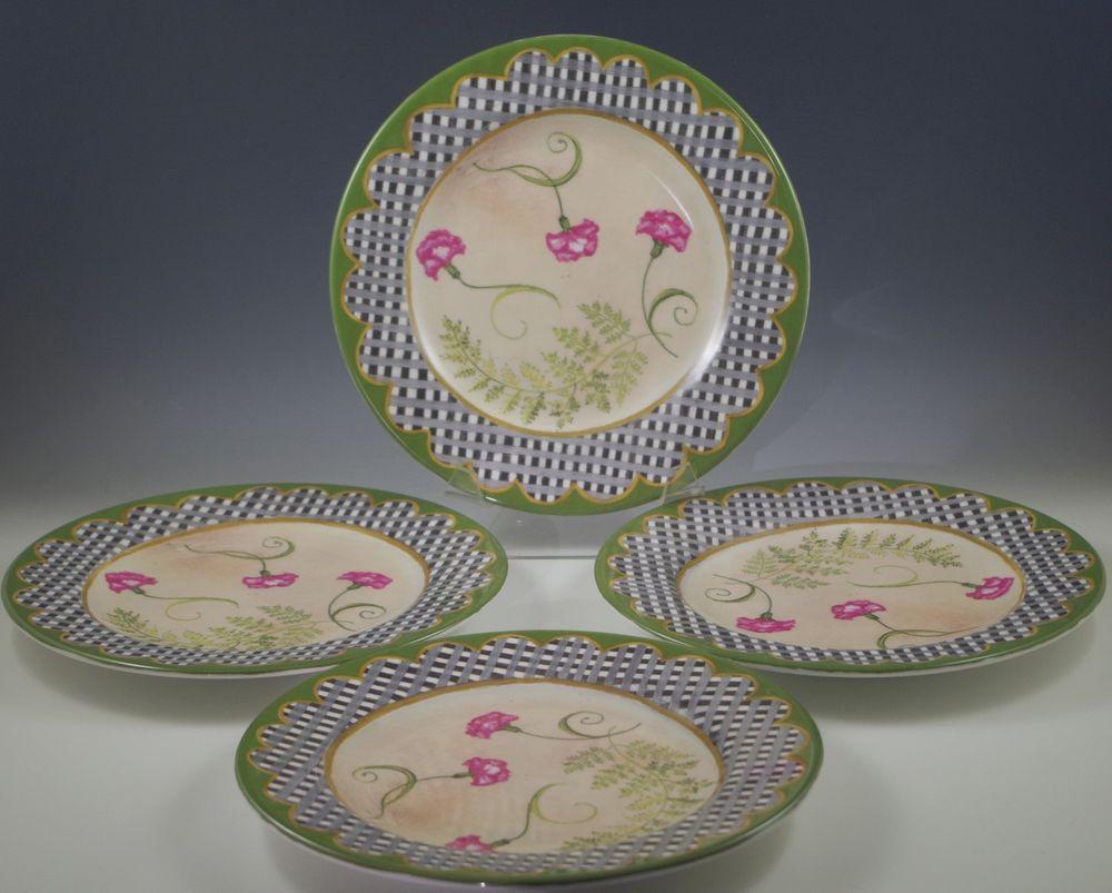 Tracy porter ceramic orchard, set of 4 salad plates, shabby | Salad ...