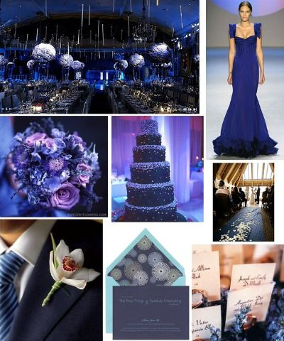 Wedding Colors 2011 Trends Navy Blue Purple Wedding