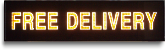 Large 1980s fibre optic electronic sign: Free Delivery