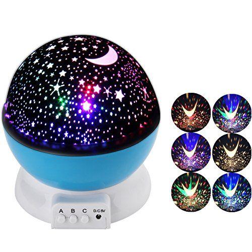 Supernight 3 Modes Colorful Led Night Light Lamp Ambient Lighting 360 Degree Romantic Rotating Co Romantic Bedroom Lighting Baby Night Light Starry Night Light