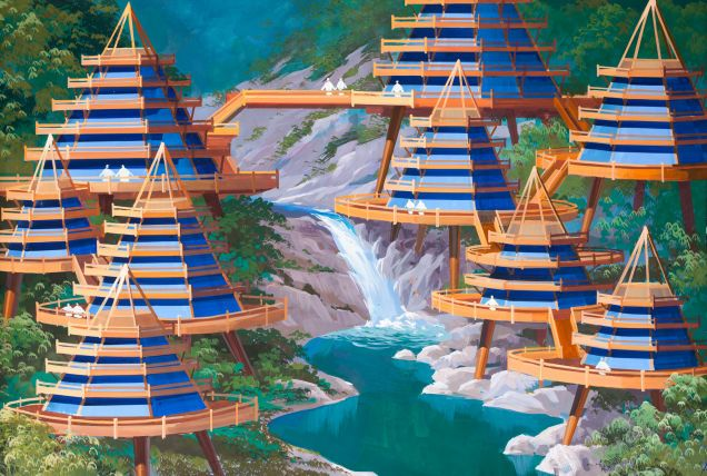 2014 / Vision of a sustainable future in North Korea. (by a North Korean architect)