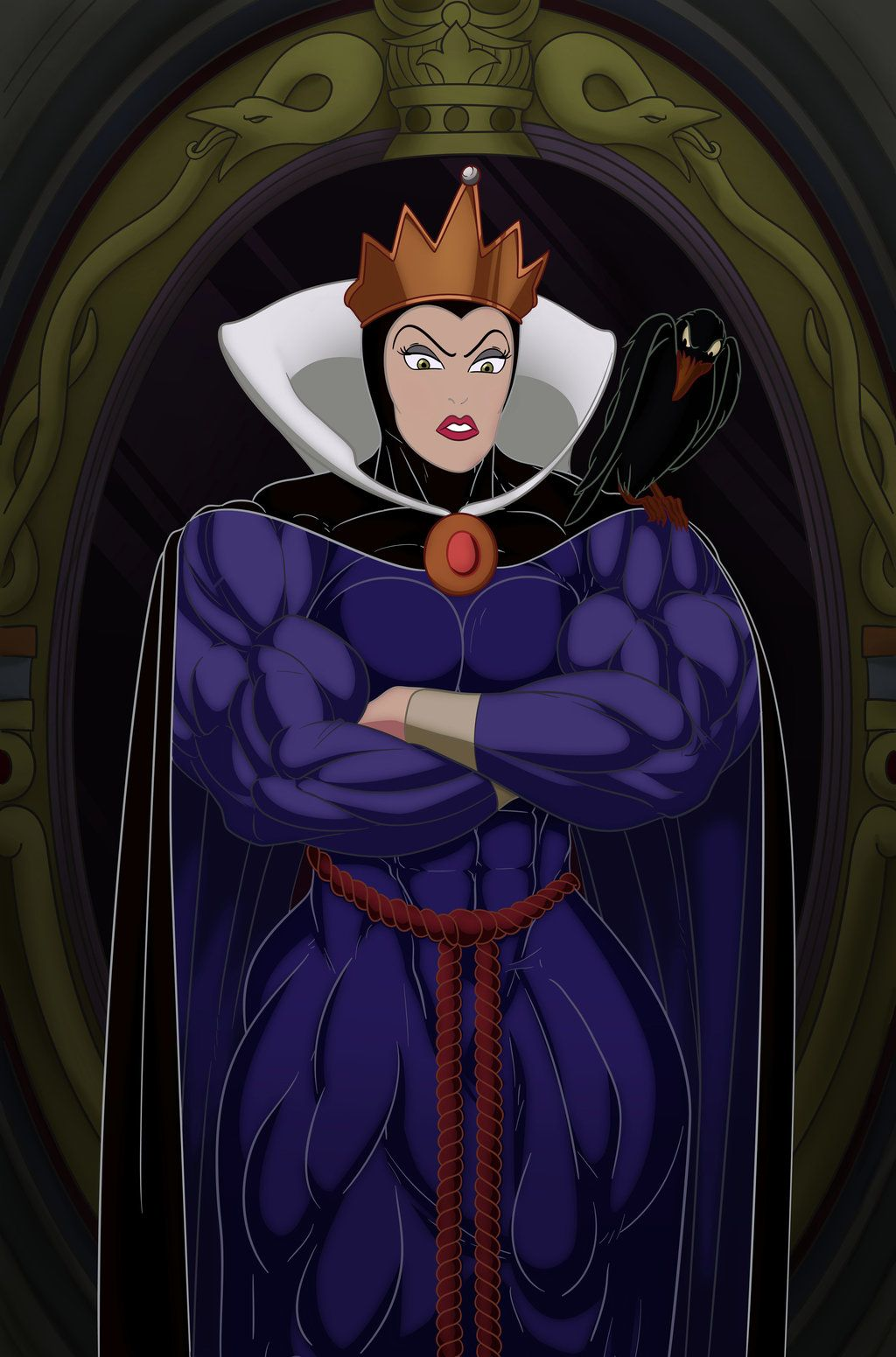 Evil Queen Color By Rssam000 Evil Queen Anime Evil