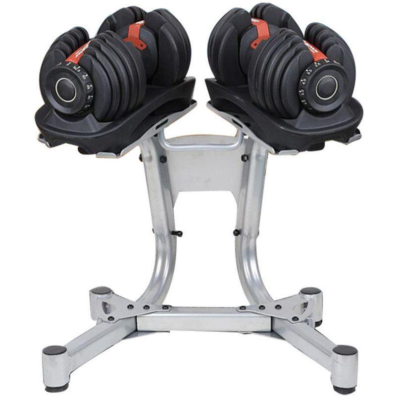 2pc Adjustable Fitness Dumbbell Set W Stand 24kg Adjustable Dumbbells Adjustable Dumbbell Set Dumbbell Set