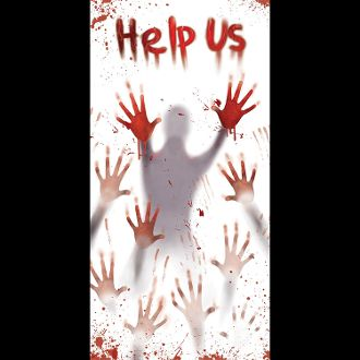 Creepy dexter psycho horror help us bloody body hand for Bloody wall mural