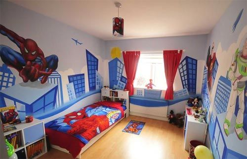 spiderman bedroom ideas spiderman bedroom inspired movie theme rh pinterest com Amazing Room Decor Spider-Man Hello Kitty Room